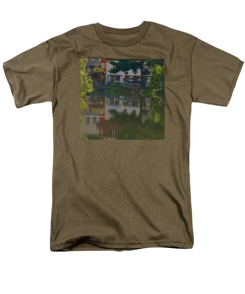 Men's T-Shirt  (Regular Fit) featuring the photograph A Cities Reflection by Ramona Whiteaker