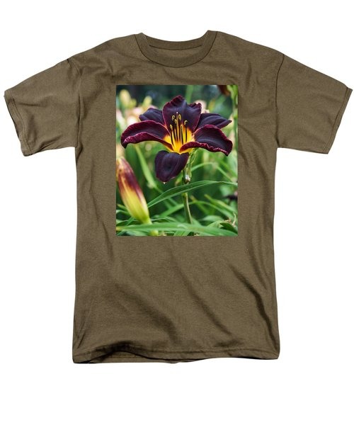 Men's T-Shirt  (Regular Fit) featuring the photograph A Dark Purple Tiger Lilly by B Wayne Mullins