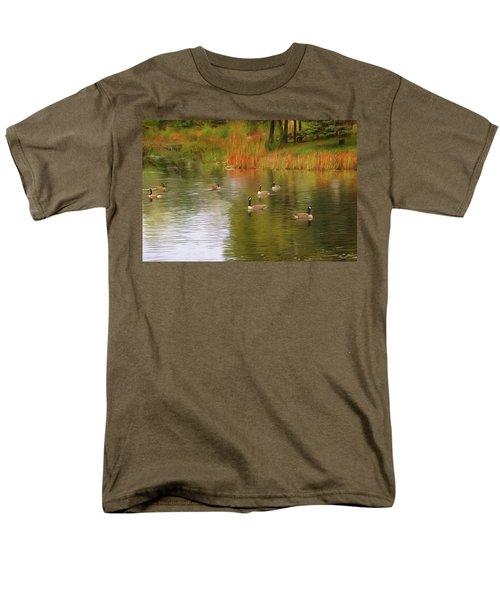 A Gaggle Of Geese Men's T-Shirt  (Regular Fit) by Cedric Hampton