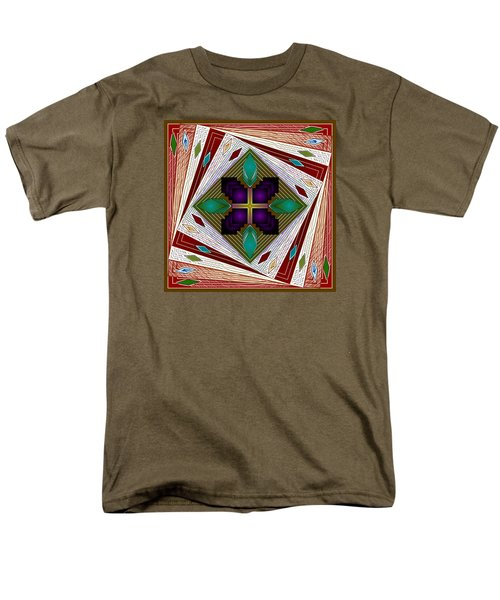 Men's T-Shirt  (Regular Fit) featuring the digital art A Game Of Diamonds by Mario Carini
