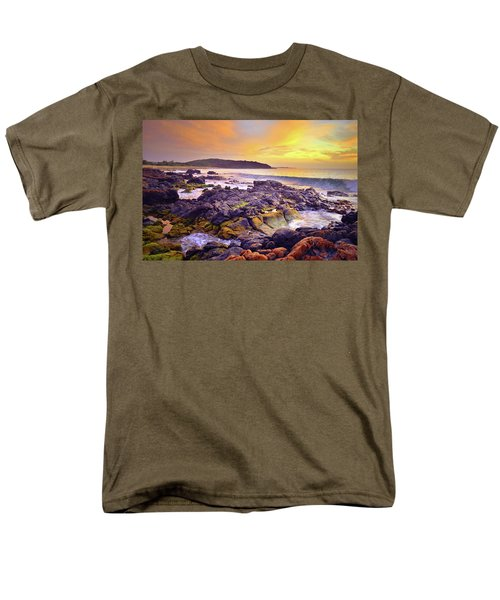 Men's T-Shirt  (Regular Fit) featuring the photograph A Gentle Wave At Sunset by Tara Turner