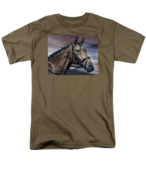Men's T-Shirt  (Regular Fit) featuring the photograph A Horse Called Zi by Brian Tarr