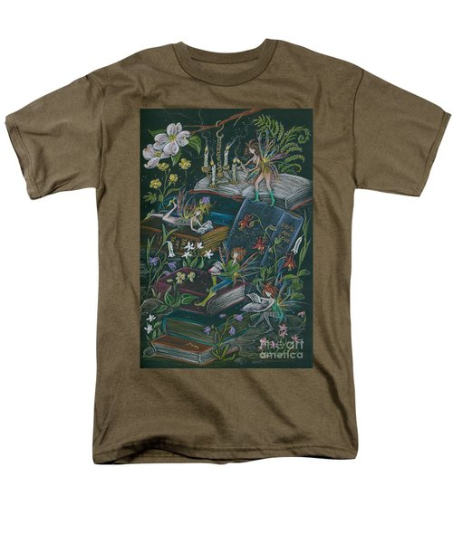 Men's T-Shirt  (Regular Fit) featuring the drawing A Little Light To Read By by Dawn Fairies