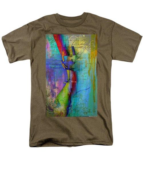 Men's T-Shirt  (Regular Fit) featuring the digital art A Little Wining by Greg Sharpe