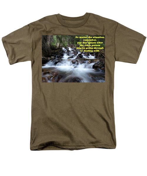 A Mountain Stream Situation 2 Men's T-Shirt  (Regular Fit) by DeeLon Merritt