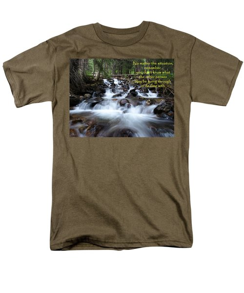 A Mountain Stream Situation Men's T-Shirt  (Regular Fit) by DeeLon Merritt