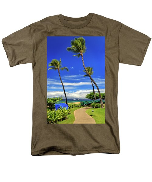 A Path In Kaanapali Men's T-Shirt  (Regular Fit) by James Eddy