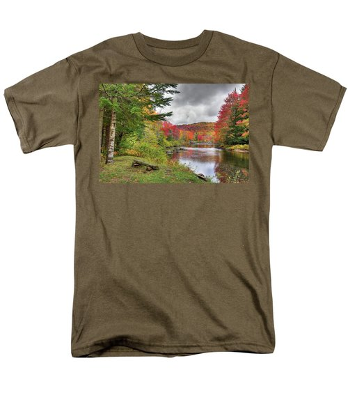 A Place To View Autumn Men's T-Shirt  (Regular Fit) by David Patterson