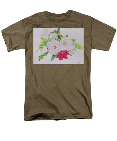 Men's T-Shirt  (Regular Fit) featuring the painting A Rose Bouquet by Hilda and Jose Garrancho