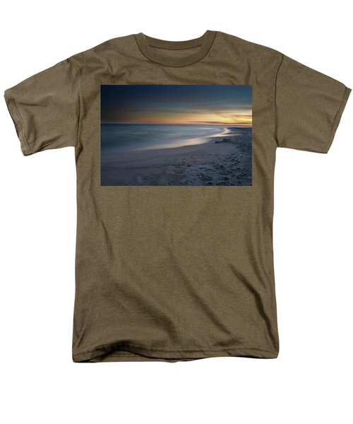 Men's T-Shirt  (Regular Fit) featuring the photograph A Sandy Shoreline At Sunset by Renee Hardison