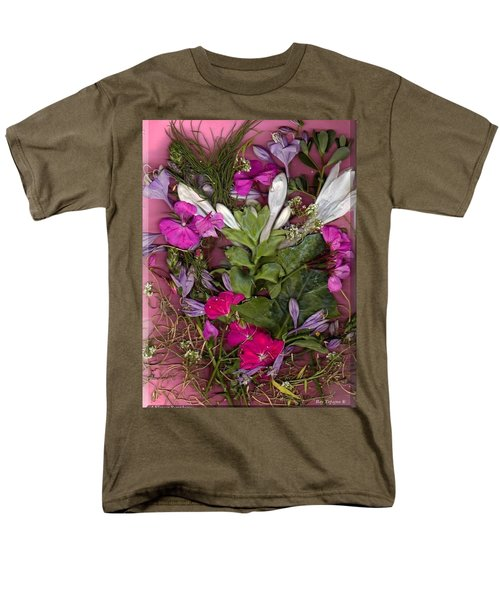 Men's T-Shirt  (Regular Fit) featuring the digital art A Symphony Of Flowers by Ray Tapajna