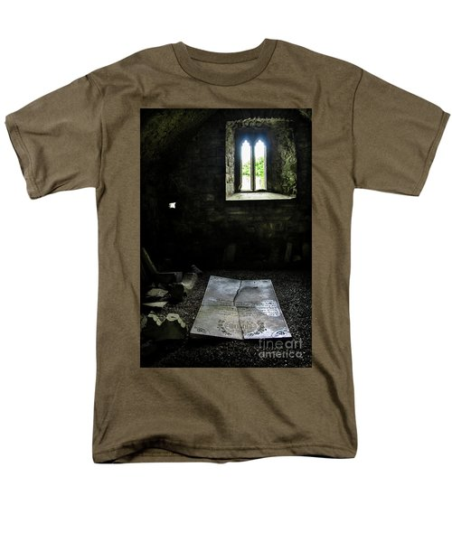 Men's T-Shirt  (Regular Fit) featuring the photograph A Tombstone In Sligo Abbey by RicardMN Photography