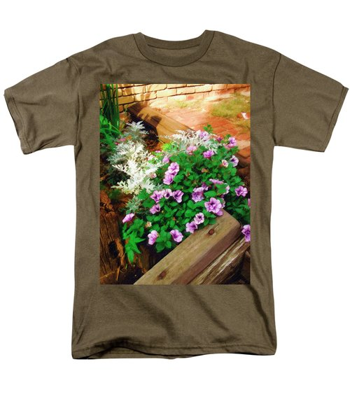 Men's T-Shirt  (Regular Fit) featuring the painting A Touch Of Nature by Sandy MacGowan