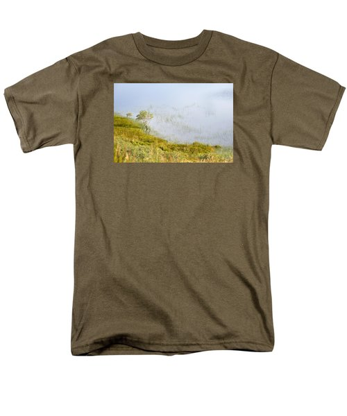 Men's T-Shirt  (Regular Fit) featuring the photograph A Tree In The Lake Of The Scottish Highland by Dubi Roman
