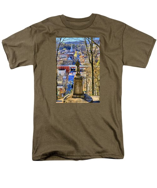 Men's T-Shirt  (Regular Fit) featuring the photograph A View From College Hill by DJ Florek