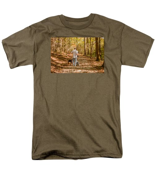 Men's T-Shirt  (Regular Fit) featuring the photograph A Walk In The Woods by Cathy Donohoue