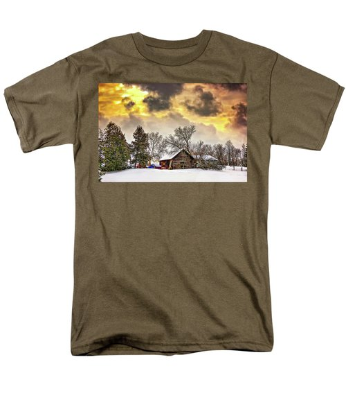 A Winter Sky Men's T-Shirt  (Regular Fit) by Steve Harrington
