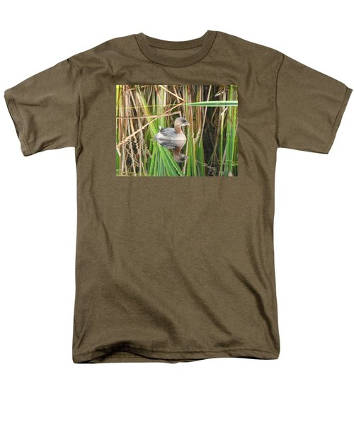 A Young Pied-billed Grebe And Its Reflection Men's T-Shirt  (Regular Fit)