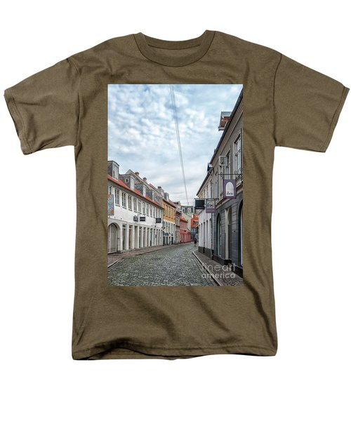 Men's T-Shirt  (Regular Fit) featuring the photograph Aarhus Backstreet Scene by Antony McAulay
