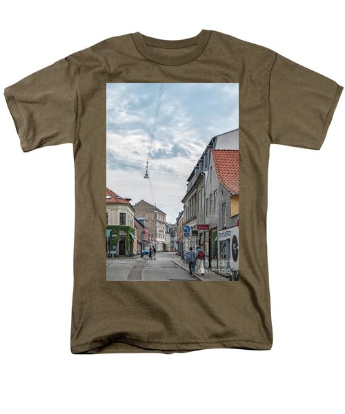 Men's T-Shirt  (Regular Fit) featuring the photograph Aarhus Urban Scene by Antony McAulay