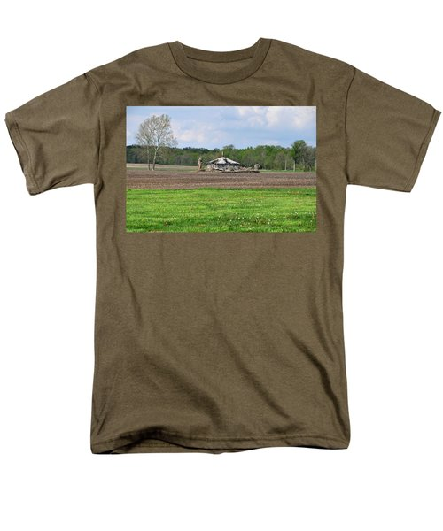 Men's T-Shirt  (Regular Fit) featuring the photograph Abandoned Farmhouse by John Black