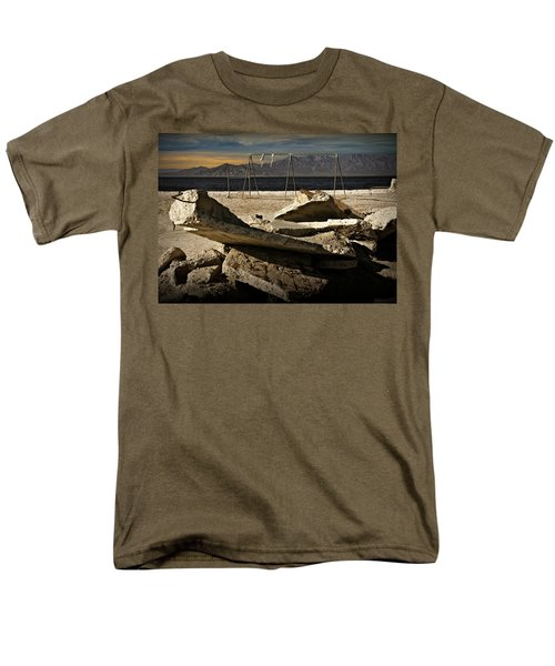 Men's T-Shirt  (Regular Fit) featuring the photograph Abandoned Ruins On The Eastern Shore Of The Salton Sea by Randall Nyhof