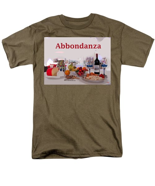 Men's T-Shirt  (Regular Fit) featuring the mixed media Abbondanza by Charles Shoup