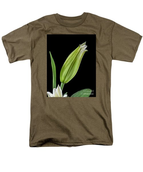 White Oriental Lily About To Bloom Men's T-Shirt  (Regular Fit) by David Perry Lawrence