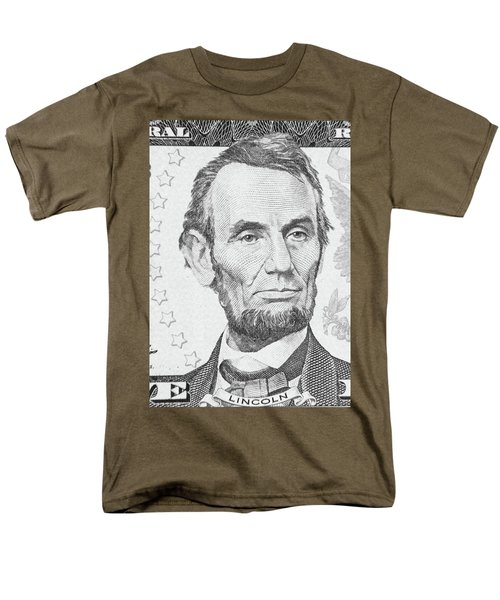 Men's T-Shirt  (Regular Fit) featuring the photograph Abraham Lincoln by Les Cunliffe