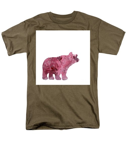 Abstract Acrylic Painting Bear Men's T-Shirt  (Regular Fit) by Saribelle Rodriguez