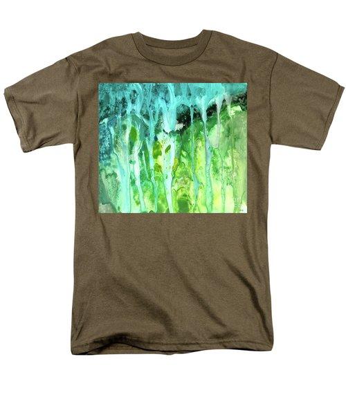 Abstract Art Waterfall Men's T-Shirt  (Regular Fit) by Saribelle Rodriguez