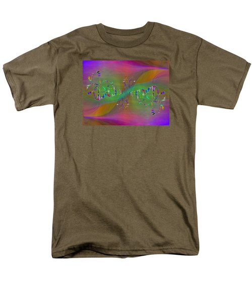 Men's T-Shirt  (Regular Fit) featuring the digital art Abstract Cubed 376 by Tim Allen