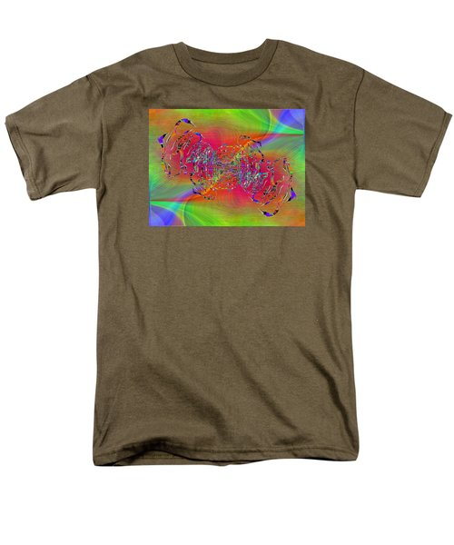 Men's T-Shirt  (Regular Fit) featuring the digital art Abstract Cubed 382 by Tim Allen