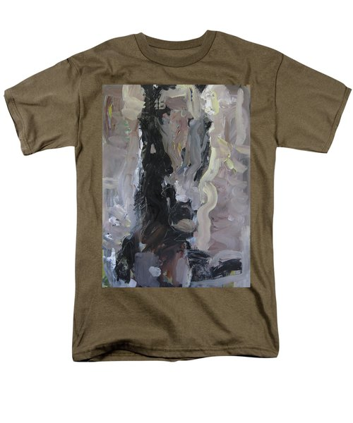 Men's T-Shirt  (Regular Fit) featuring the painting Abstract Horse Painting by Robert Joyner