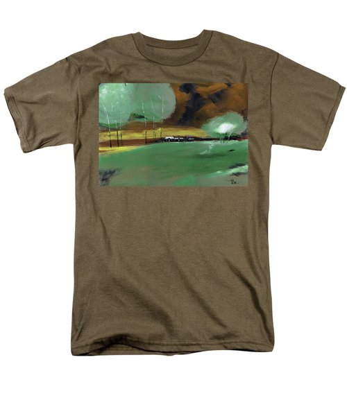 Men's T-Shirt  (Regular Fit) featuring the painting Abstract Landscape by Anil Nene