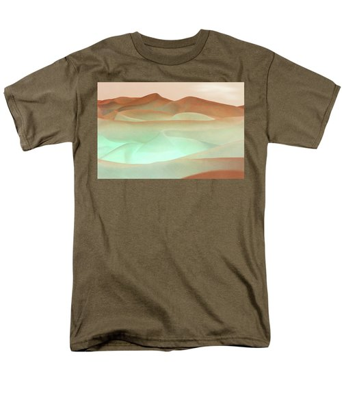 Abstract Terracotta Landscape Men's T-Shirt  (Regular Fit) by Deborah Smith