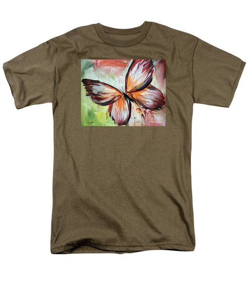 Men's T-Shirt  (Regular Fit) featuring the painting Acrylic Butterfly by Tom Riggs