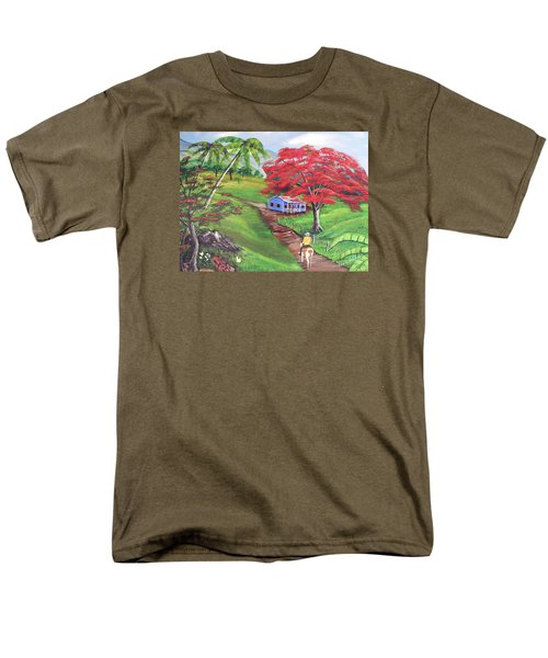 Admirando El Campo Men's T-Shirt  (Regular Fit) by Luis F Rodriguez