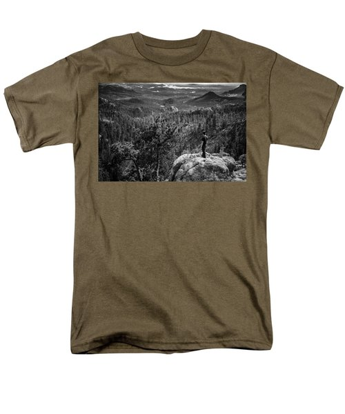 Needles Point South Dakota Men's T-Shirt  (Regular Fit) by Jason Moynihan