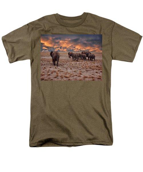 African Elephants Men's T-Shirt  (Regular Fit) by Anthony Dezenzio