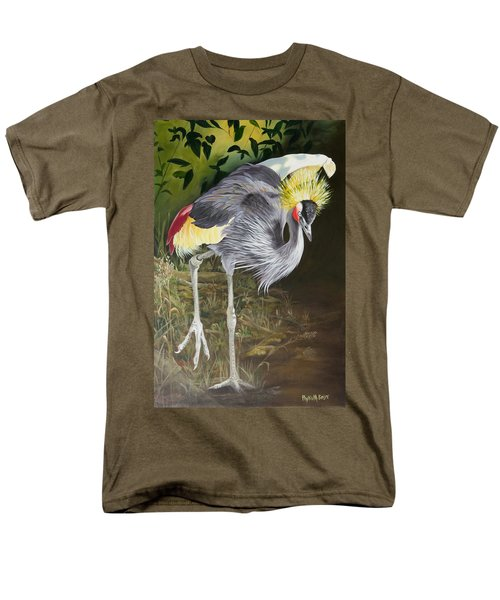 African Grey-crowned Crane Men's T-Shirt  (Regular Fit) by Phyllis Beiser