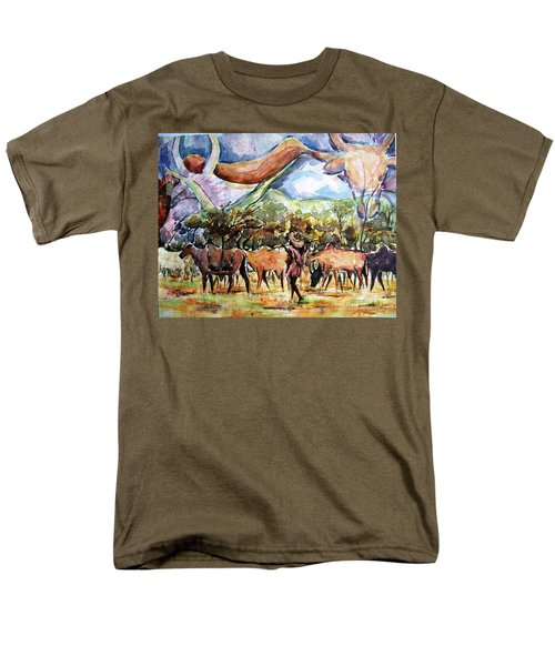 African Herdsmen Men's T-Shirt  (Regular Fit) by Bankole Abe