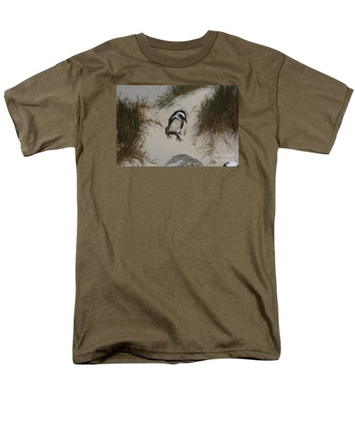 African Penguin On A Mission Men's T-Shirt  (Regular Fit) by Bev Conover