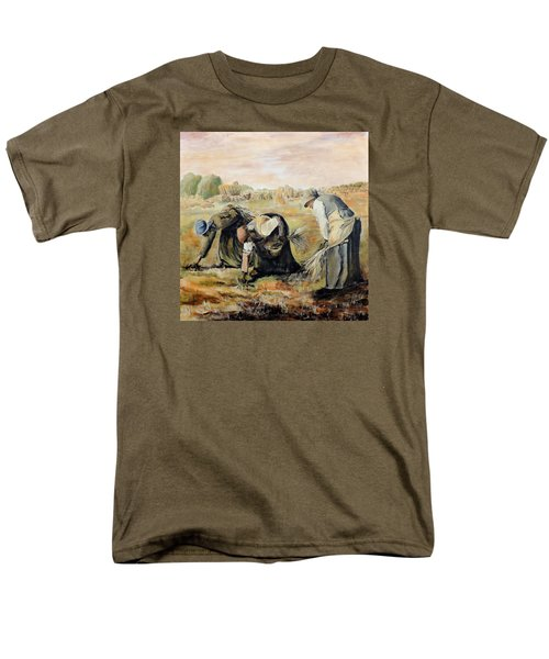 after Jean-Francois Millet  The Gleaners Men's T-Shirt  (Regular Fit) by Jodie Marie Anne Richardson Traugott          aka jm-ART
