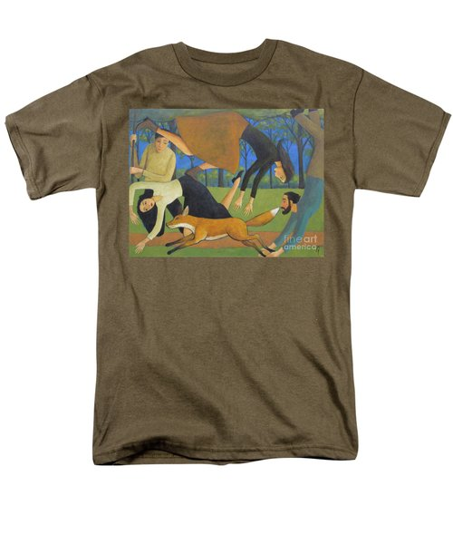 Men's T-Shirt  (Regular Fit) featuring the painting After The Fox by Glenn Quist