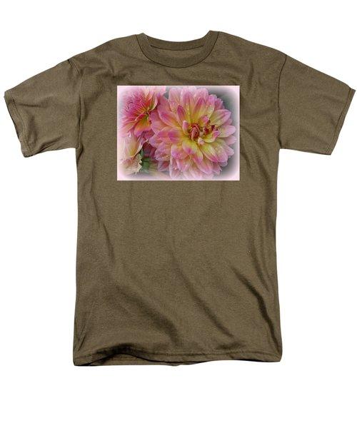After The Rain - Dahlias Men's T-Shirt  (Regular Fit) by Dora Sofia Caputo Photographic Art and Design