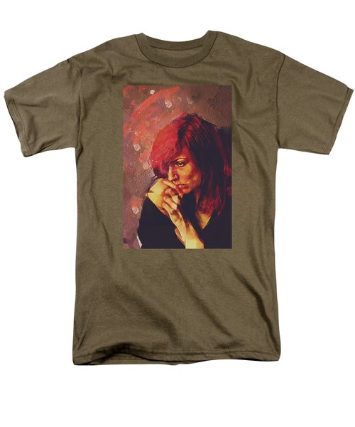 Men's T-Shirt  (Regular Fit) featuring the digital art Afterimage by Galen Valle