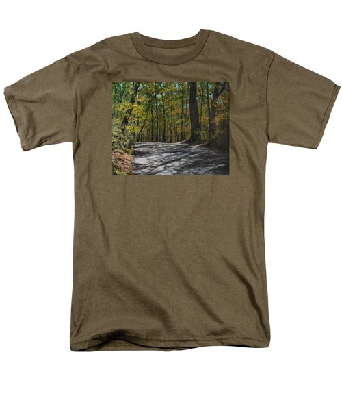 Afternoon Shadows - Oconne State Park Men's T-Shirt  (Regular Fit) by Kathleen McDermott