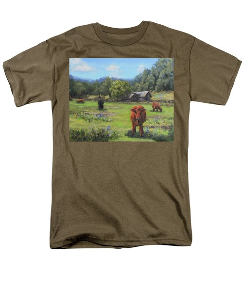 Men's T-Shirt  (Regular Fit) featuring the painting Afternoon Snack by Karen Ilari