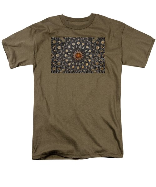 Al Ishaqi Wood Panel Men's T-Shirt  (Regular Fit) by Nigel Fletcher-Jones